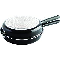 Quid Gastro Fun - Sartén doble para tortilla, 26 cm, color negro