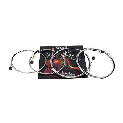 ammoon Voller Satz (G-D-A-E) Kontrabass String Saiten Stahlkern Nickel Chrom Wound Ball End