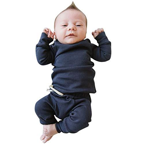 Neugeborenes Baby-Unisex Schlafsack Strampler Kinder Kleinkind Neugeborenes Baby Jungen Mädchen Solide Tops Hosen Leggings Homewear Casual Outfits Sets ODRD Jungen Body Babyschlafsack Kleinkind Sommer