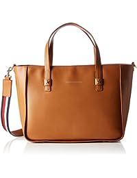 Tommy Hilfiger City Leather Tote Corp, Sacs portés épaule femme, Braun (Cognac), 16x30x36 cm (B x H T)