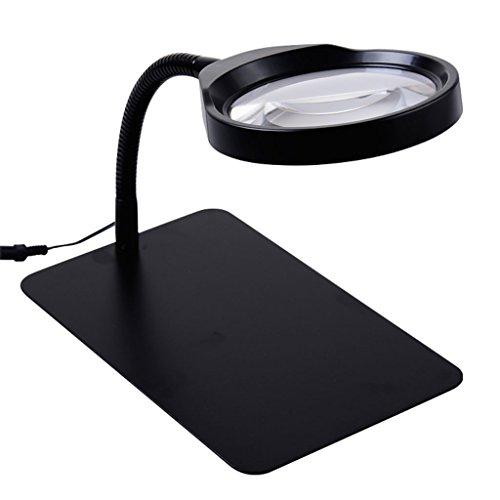 Lupe, 10-Fach-Tischlampe mit Lupen-Tischlampe-Reparatur-Stich-älteren Kindern, die hochauflösendes HD lesen - 28 Cm Hoch Tischlampe