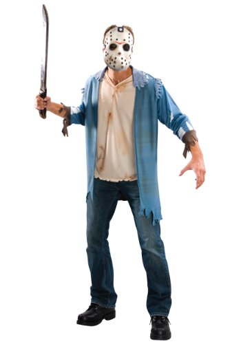 Original Lizenz Jason Voorhes Kostüm Freitag der 13 Crystal Lake Kettensäge Massaker Chainsaw massacre Gr. STD, XL, ()