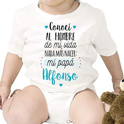 Regalo personalizado: body para bebé 'Nada más nacer.' papá persona
