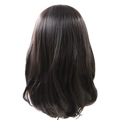 Rabbitgoo Perruque Femme Longue Cheveux Mi-longs Ondulés Bouclés Perruque à Coiffer Perruque 360 Lace Frontal Perruque à Frange Perruque Cosplay Naturelle Perruque Crêpelée Qualitée Sexy Travesti avec