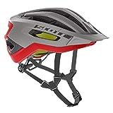 Scott Fuga Plus XC MTB Fahrrad Helm grau/rot 2019: Größe: M (55-59cm)