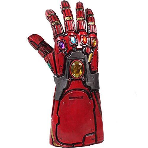 BIRDEU Iron Man Infinity Gauntlet Tony Stark Thanos Latex Handschuhe mit Energy Gem Endgame Film Cosplay Kostüm Replik für Erwachsene Homme Kleidung Party Merchandise