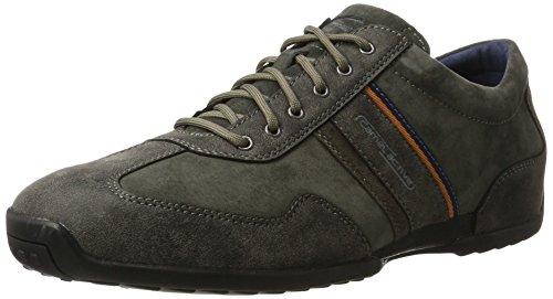 camel active Herren Space 24 Sneaker, Grau (Anthracite), 45 EU (Leder Schuhe Camel)