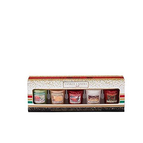 Yankee Candle 1521553Holiday Party 5votive Gift Set Coffret cadeau 5bougies votives, multicolore, 4.7x 4.7x 5cm
