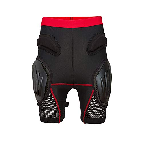 TZTED Protektorhose Snowboard Schutzhose für Fahrradhose Hüfte Kurze Kompressions Sport Fahrrad Protektor Shorts,Black,XL