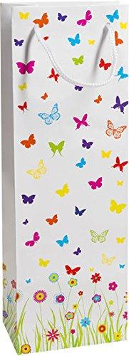 Duni Flaschentüten Trend Motiv Mariposa, 12,3 x 36,2 x 7,8 cm Mariposa Serviette