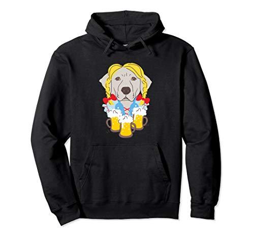 Labrador in Deutsch Dirndl-Kostüm Lustige Oktoberfest Pullover Hoodie