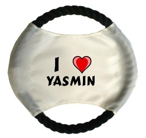 personalisierter-hundefrisbee-mit-aufschrift-ich-liebe-yasmin