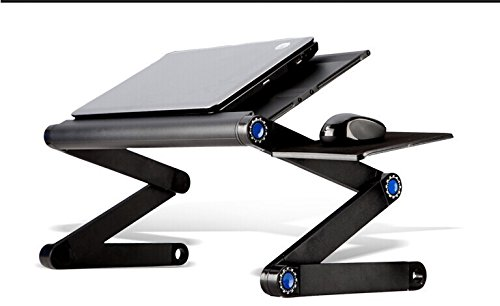 Portable Laptop Table 360 Degree Revolve Folding Aluminum Alloy 2 USB Cooling Fan NoteBook Stand Holder T8 For Home, Office, Kids Homework Study Table Sofa Food Table