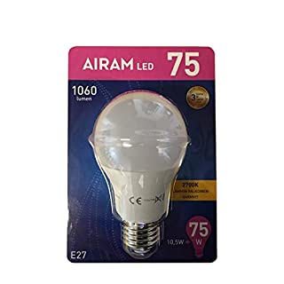 6 Stück LED Lampe Glühlampe E27 10,5W Watt 1060 Lumen warmweiß Glühbirne 75W