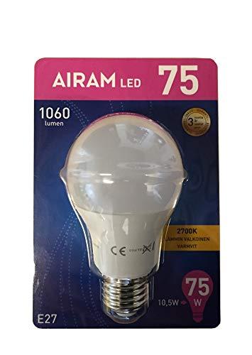10.5 W Led (6 Stück LED Lampe Glühlampe E27 10,5W Watt 1060 Lumen warmweiß Glühbirne 75W)