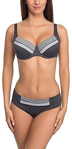 Feba Figurformender Damen Bikini Anabell (Graphite, Cup 85 G / Unterteil 42)