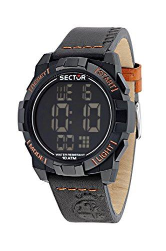 Sector R3251172047 - Reloj con correa de piel para hombre, color negro / gris