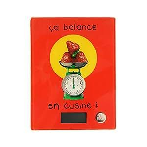 Balance de cuisine rouge - Ca balance en cuisine