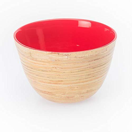 Bea Mely Elegante bambú D = 11cm H = 7cm Cuenco Ensalada Dip–Bol Cuenco para Frutos Secos Vajilla bambú Cuenco Decoración Natural del Comercio Justo