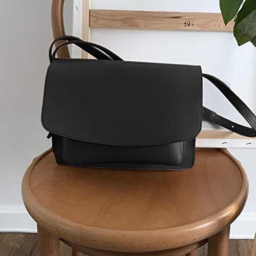 SeniorMar Einfache Einfarbig PU Leder Umhängetasche Crossbody Tasche Handtasche Kleine Flap Bag Lady Mädchen Frauen Casual Taschen Tägliche Außentasche