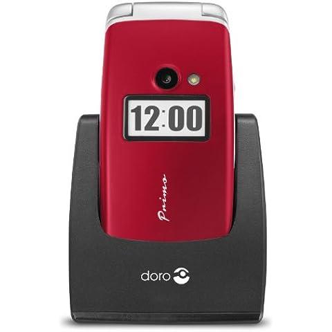 Doro Primo 413 2.4 115g Rojo - Teléfono móvil (SIM única, Despertador, calculadora, calendario, Ión de litio, GSM, 320 x 240 Pixeles, MicroSD