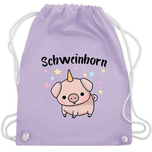Kinder - Schweinhorn - Unisize - Pastell Lila - WM110 - Turnbeutel & Gym Bag ()