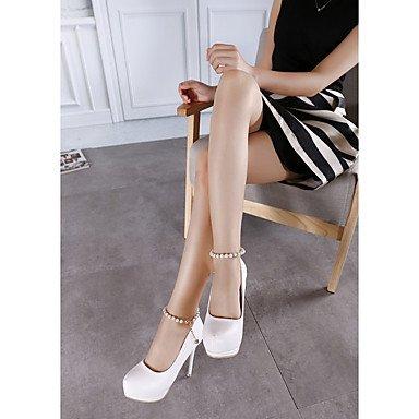 Moda Donna Sandali Sexy donna tacchi Autunno / Inverno tacchi PU Esterni / abito / Casual Stiletto Heel altri Nero / Bianco Altri White