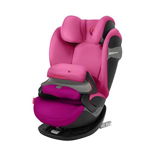 CYBEX Gold 2-in-1 Kinder-Autositz Pallas S-Fix, Für Autos mit und ohne ISOFIX, Gruppe 1/2/3 (9-36 kg), Ab ca. 9 Monate bis ca. 12 Jahre, Passion Pink