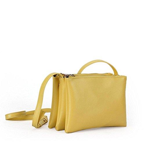 VIVIESTA, Borsa a tracolla donna Taglia unica Yellow