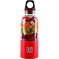 pawaca USB Fruit Juicer Coupe fruits taille S personnelle, Poker, portable rechargeable jus Blender électrique pour Home Voyages travaillent à l'extérieur - (500ml, multicolore) Rot