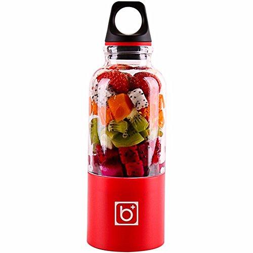 Pawaca Fruit Juicer, 500ml USB Elektrische Personal Mixer für Babynahrung Gemüse und Obst Portable wiederaufladbare Smoothie Maker Flasche Cup für Büro im Freien Reisen - Mixer-cup Power