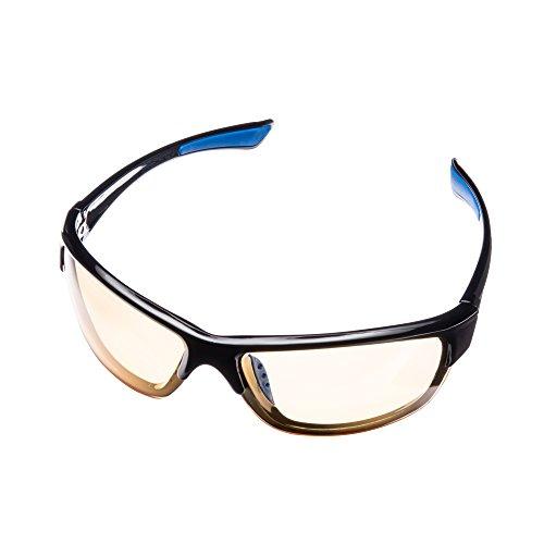 Lumin Night Driving Brille VECTOR - Allwetterbrille für Regen-, Nebel- und Nachtfahrten - Verbesserte Verkehrssicherheit - UVA- und UVB-Schutz - Reduzierte Augenbelastung und Kopfschmerzen - Unisex