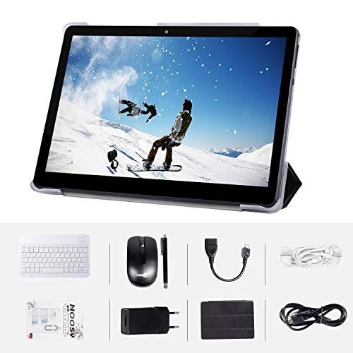 Android-Tablet mit 10,0-Zoll-HD-IPS-Bildschirm, Android 7.0 3G-Tablet mit 2 SIM-Kartensteckplätzen, Quad-Core, 1,3 GHz, 4 GB + 64 GB, Bluetooth, WLAN, GPS, Dual-Kamera