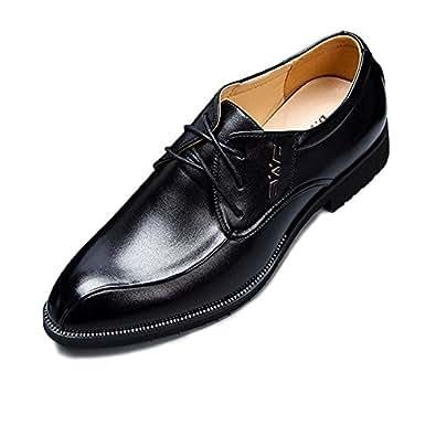 Ruiyue Herren Klassische Schuhe, Glatte PU-Leder Slip-on Weiche Sohle Business Oxfords für Herren (Farbe : Black, Size : 38 EU)