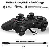 PS3Controller Wireless Dualshock3Joystick–oubang Upgrade Version Patent Fernbedienung Best Bluetooth-Achsen-Control Gamepad Schwere Spiel Zubehör für PlayStation3 Schwarz