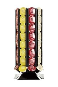 porte capsules distributeur de capsules coffeetower dg72 noir pour des capsules dolce gusto. Black Bedroom Furniture Sets. Home Design Ideas