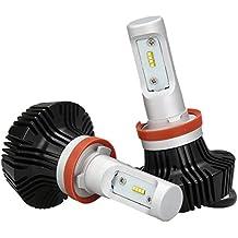 Toppower H8 H11 Lámpara de Cabeza de LED de Conversión con Lumileds-ZES Viruta Faros - 50W 8000LM 6500K-360 ° Ajustable- No Sistema de CANBUS