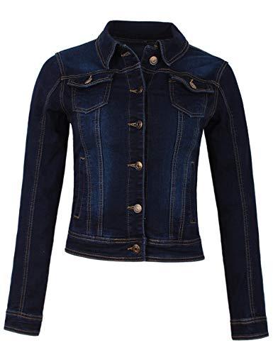 Fraternel Damen Jacke Jeansjacke Denim Jacket talliert Stretch Dunkelblau M / 38 -