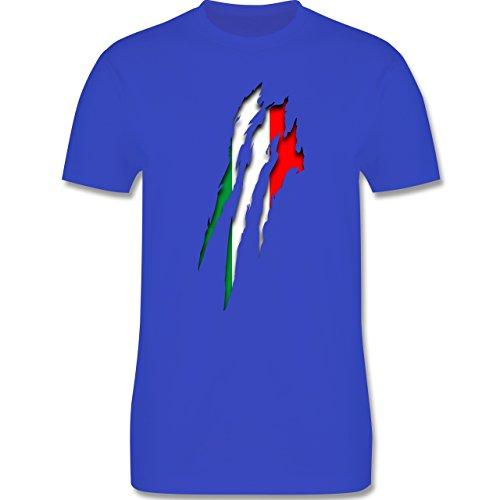Länder - Italien Krallenspuren - S - Royalblau - L190 - Herren T-Shirt Rundhals