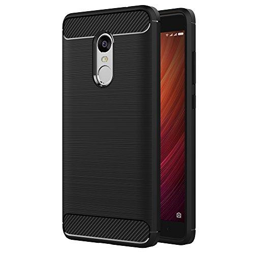 "Funda Xiaomi Redmi Note 4, AICEK Redmi Note 4 Funda Negro Gel de Silicona Redmi Note 4 Carcasa Fibra de Carbono Funda para Redmi Note 4 5.5"""