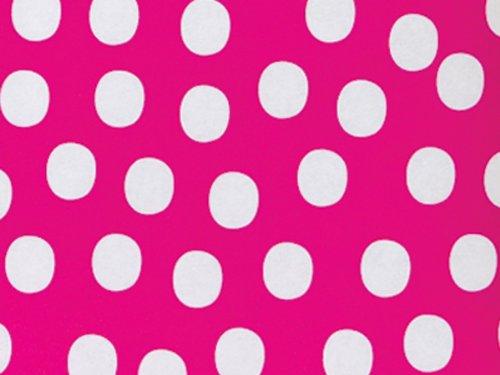Fuchsia Twist Dot 24 inch X417ftRecycled Gift Wrap Counter Roll (Dot Twist)