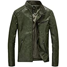 pretty nice 6ca0e 31e98 Amazon.it: giacca in pelle uomo - Verde