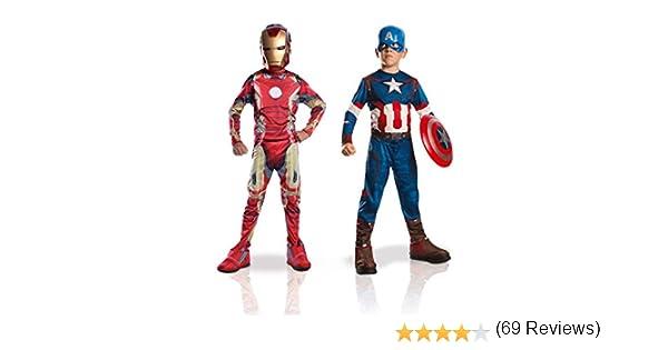 Costumi per bambini Set da 2 pezzi 105-116 cm Iron Man 2 Capitan America Marvel 155014m M