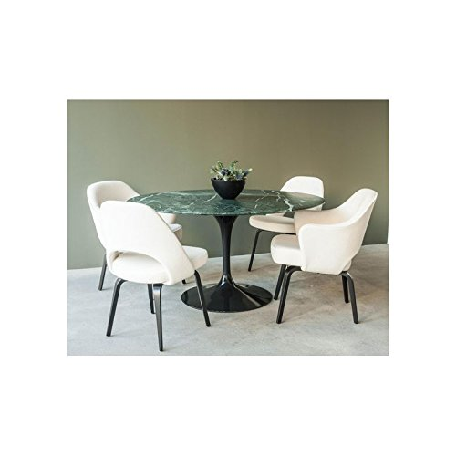 Tavoli.design CM 120 Table Tulip Eero Saarinen Ronde Marbre Verte Alpes