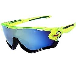 LAAT Gafas de Sol, Protección Gafas para Deportivas Polarizadas, La Mejor Opción para el Ciclismo (Verde)