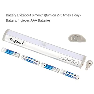Motion Sensor LED Night Light Wireless Portable Lighting Bar Powered by Batteries Activated by Motion and Darkness Stick-on Cupboard under Stairs/Bathroom/Wardrobe/Hallway/Corridor/Walkway/Dark Place - cheap UK light shop.