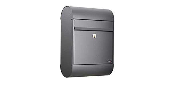Premium Quality Letter and Small Packet Letter Box Allux 200 F54203 Anthracite Galvanized Steel Letterbox