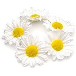 GIZZY mujer de ángel y diseño de chicas sobre blanco de flores y molde elástico de Silky diseño de margaritas Finisher de pelo.