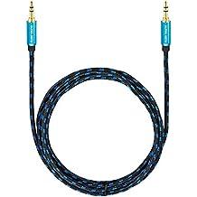 Ultra HDTV Premium – 15m Cable de audio estéreo Jack, conector macho de 3,5mm a macho de 3,5mm