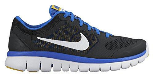 Nike Unisex-Kinder Flex 2015 Run (Gs) Laufschuhe Schwarz (007 BLACK/WHITE-HYPR CBLT-VRSTY MZ)